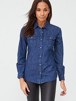 V by Very V By Very Essential Denim Shirt - Blue Picture