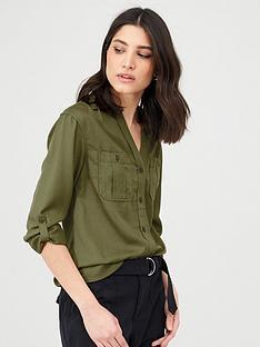 v-by-very-utility-shirt-khaki