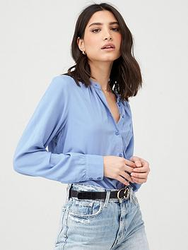 V by Very V By Very Essential Relaxed Shirt - Blue Picture