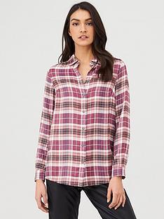 v-by-very-essentialnbspchecked-shirt-grey