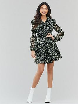 Michelle Keegan Michelle Keegan Printed Ruffle Tea Dress - Ditsy Floral Picture