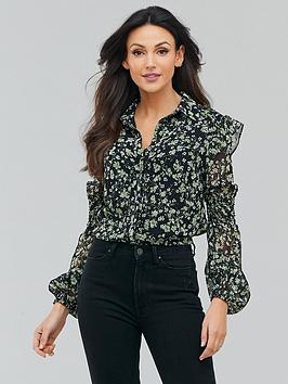 Michelle Keegan Michelle Keegan Printed Shirred Panel Blouse - Ditsy Floral Picture