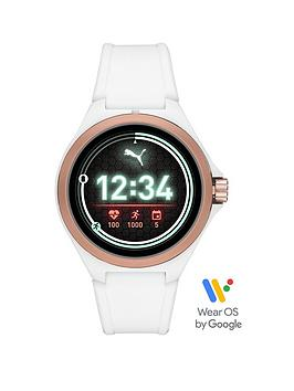 puma-puma-gen-5-full-display-rose-gold-case-dial-white-silicone-strap-smart-watch