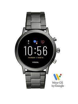 fossil-fossil-gen-5-full-display-black-ip-stainless-steel-bracelet-smart-watch