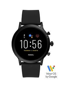 fossil-fossil-gen-5-full-display-black-silicone-strap-smart-watch