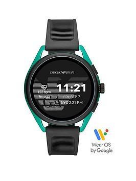 emporio-armani-emporio-armani-gen-5-full-display-green-dial-black-silicone-strap-smart-watch