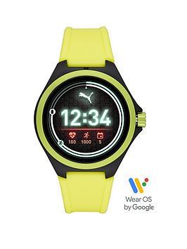 puma-puma-gen-5-full-display-yellow-silicone-strap-smart-watch