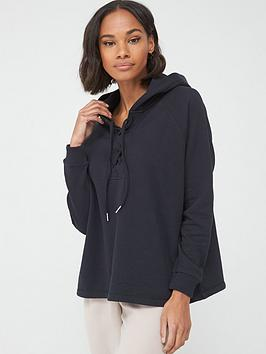v-by-very-tie-detail-hoodie-black