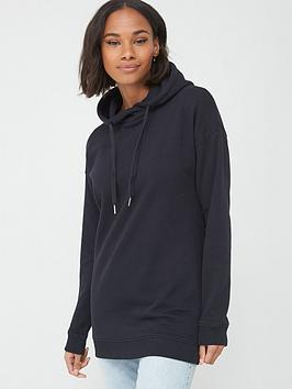 V by Very V By Very The Essential Cross Neck Oversized Hoodie - Black Picture