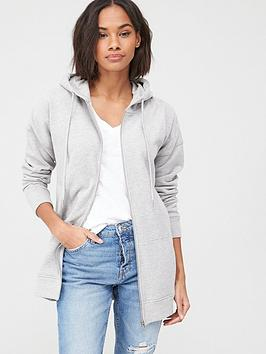 V by Very V By Very Zip Through Hoodie - Grey Picture