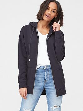 V by Very V By Very Zip Through Hoodie - Black Picture