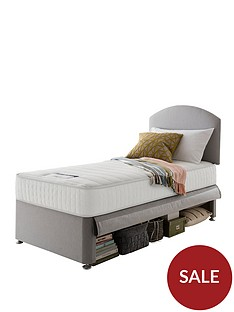silentnight-maxi-store-divan-bed-set-with-kids-sprung-mattress-and-headboard-grey