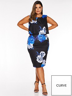 quiz-curve-curve-floral-print-midi-dress-blackroyal-blue