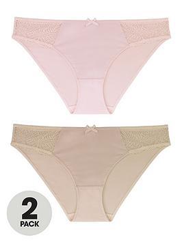 Dorina Dorina Faith 2 Pack Briefs - Pink/Nude Picture