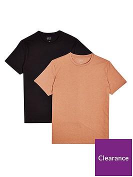 burton-menswear-london-burton-menswear-london-2-pack-t-shirts-latteblack
