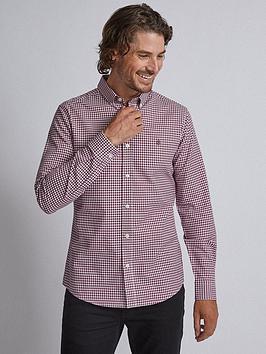 burton-menswear-london-long-sleeve-oxford-gingham-shirt