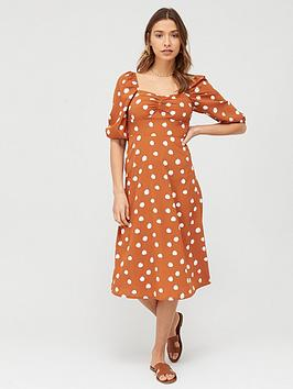 V by Very V By Very Printed Midi Dress - Print Picture