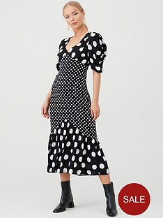 v-by-very-spot-mixed-print-dress-print