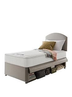 silentnight-maxi-store-divan-bed-set-with-kids-sprung-matress-and-headboard-sandstone
