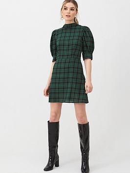 V by Very V By Very Checked Mini Dress - Print Picture