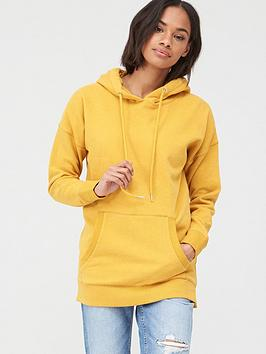 V by Very V By Very Drawcord Fashion Hoodie - Yellow Picture