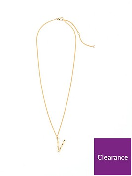 v-by-very-bamboo-initial-necklace-v-gold