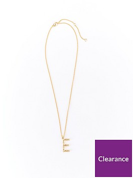 v-by-very-bamboo-initial-necklace-e-gold