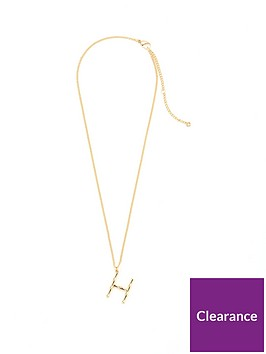 v-by-very-bamboo-initial-necklace-h-gold