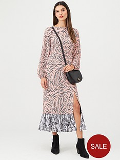 v-by-very-mixed-print-midaxi-dress-pink