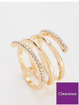 michelle-keegan-rhinestone-wrap-ring-gold