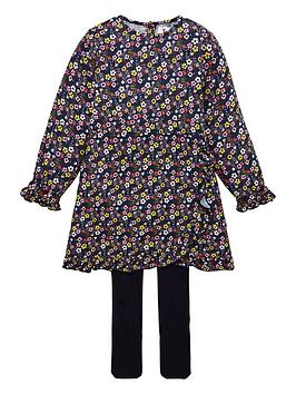 V by Very V By Very Girls 2 Piece Floral Dress And Tights Outfit - Multi Picture