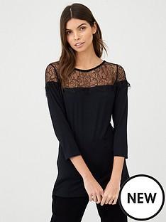 v-by-very-lace-bib-top-black