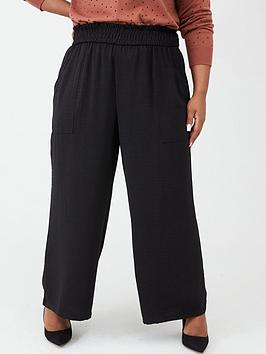 v-by-very-curve-elasticated-waist-floaty-trousers-black