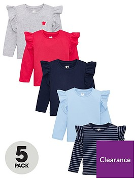 v-by-very-girls-5-pack-frill-shoulder-long-sleeve-t-shirts-multi