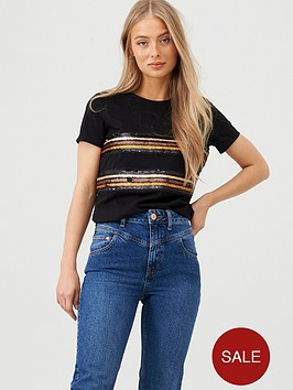 v-by-very-sequin-panel-t-shirt-black