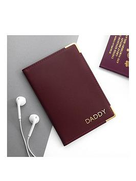 Very  Personalised Luxury Leather Passport Cover