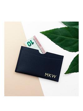 Very  Personalised Luxury Leather Card Holder