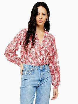 topshop-animal-scollop-blouse-red