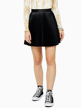 topshop-pleat-pu-mini-skirt-black