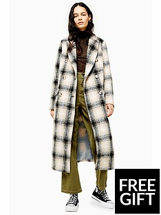topshop-topshop-checked-trench-coat-multi
