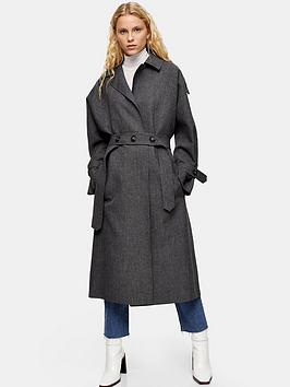topshop-belted-trench-coat-grey