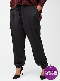 v-by-very-curve-satin-cargo-trousers-black
