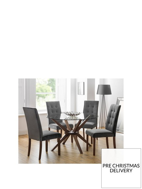julian-bowen-chelsea-120-cm-round-glass-dining-table-4-madrid-chairs