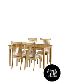 julian-bowen-ibsen-150-190-cm-extending-dining-table-4-chairs