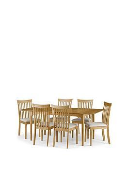 Julian Bowen Julian Bowen Ibsen 150 - 190 Cm Extending Dining Table + 6  ... Picture
