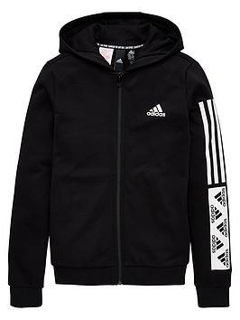 Adidas Adidas Girls Full Zip Hoodie - Black Picture