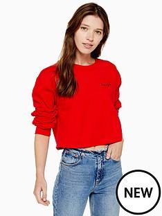 topshop-topshop-smile-mini-emblem-sweatshirt-red