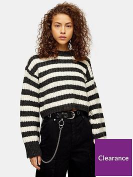 topshop-knitted-stripe-crew-neck-jumper-grey