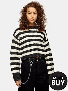 topshop-topshop-knitted-stripe-crew-neck-jumper-grey