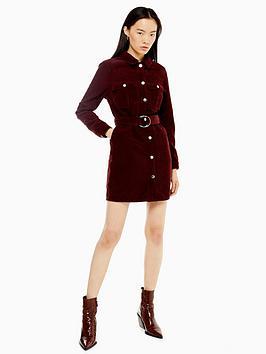 topshop-corduroy-button-mini-dress-burgundy
